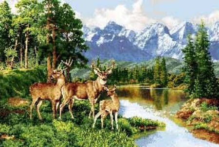 Три оленя - Гобелен