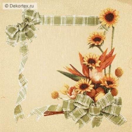 Наволочка Цветы с лентой - Гобелен