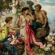Девушка с лилиями - Гобелен