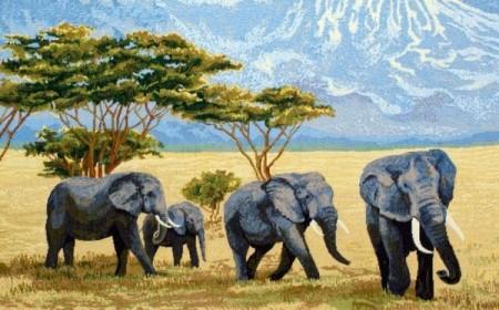 Слоны в саванне - Гобелен