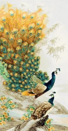 Золотые павлины - Гобелен