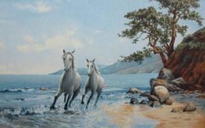 Бегущие кони - Гобелен