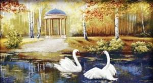 Белые лебеди - Гобелен