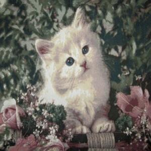Наволочка Белый котенок - Гобелен (МТОК)