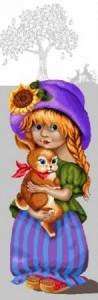 Девочка с зайкой - Гобелен