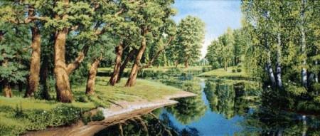 Дубы у реки - Гобелен