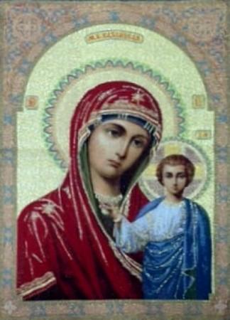 Икона Богородица Казанская - Гобелен
