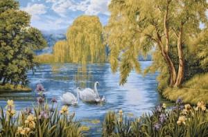 Лебединная семья - Гобелен