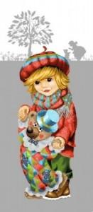 Мальчик с клоуном - Гобелен