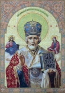Икона Николай Мерликийский - Гобелен