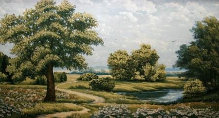 Одинокий дуб - Гобелен