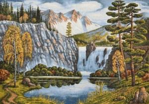 Пейзаж с водопадом - Гобелен