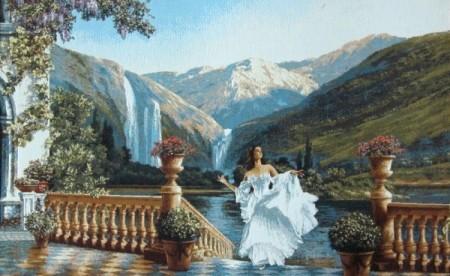 Поэзия гор (с девушкой) - Гобелен