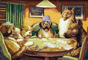 Покер  - Гобелен