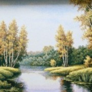 Романтический пейзаж - Гобелен