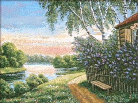 Сиреневый сад - Гобелен