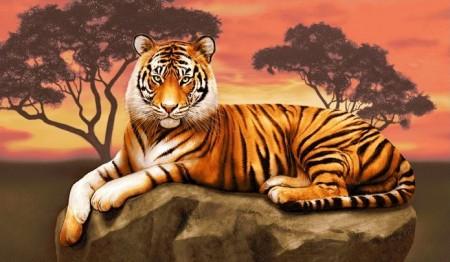 Тигр - Гобелен