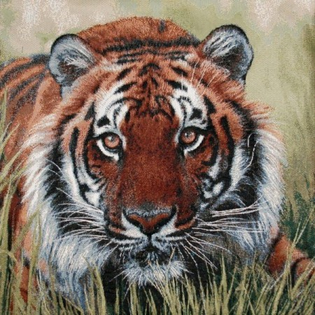 Наволочка Тигр в траве - Гобелен