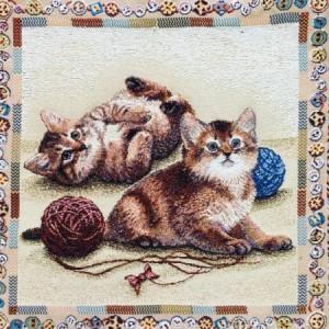 Наволочка Веселые котята - Гобелен  (МТОК)