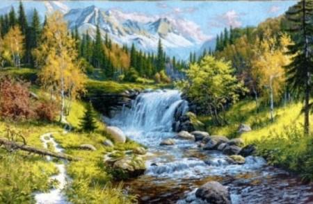 """Панно гобеленовое """"Водопад"""""""