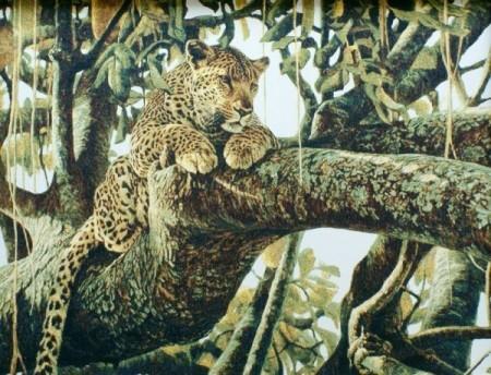 Леопард на дереве - Гобелен
