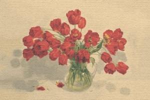 Алые тюльпаны - Гобелен