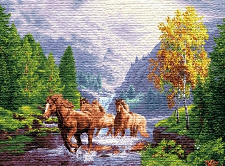 Бегущие лошади - Гобелен