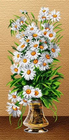 Букет белые ромашки - Гобелен