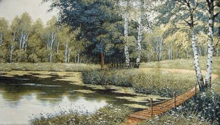Деревянный мостик - Гобелен