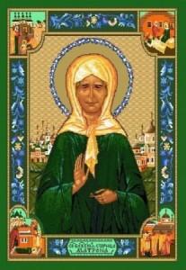 Икона Святая Матрона - Гобелен