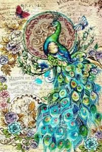 Изумрудный павлин - Гобелен