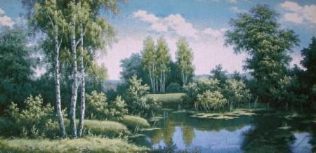 Лесная речка - Гобелен