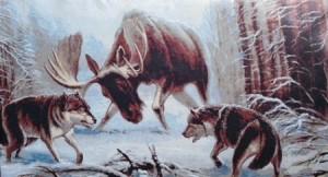 Лось и волки - Гобелен