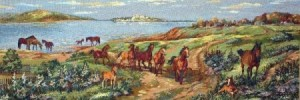 Лошади на просторе - Гобелен