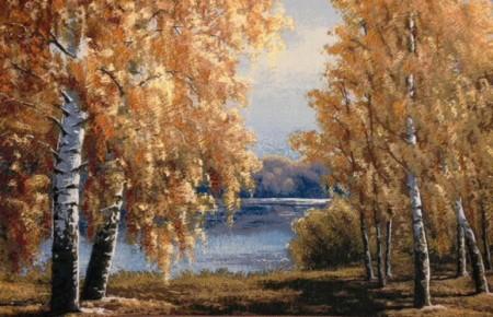 Осенние березы - Гобелен