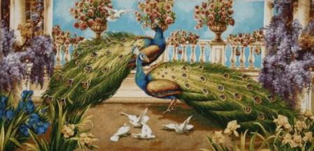 Павлины и голуби - Гобелен