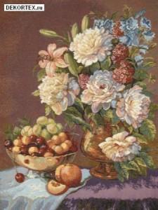 Натюрморт с пионами - Гобелен