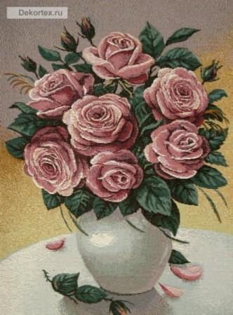 Утренний букет розы - Гобелен