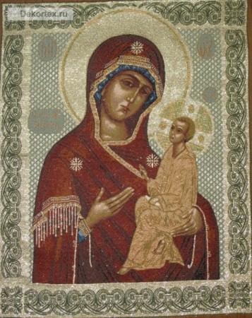 Икона Богородица Тихвинская - Гобелен