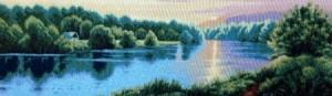 Рассвет над озером - Гобелен