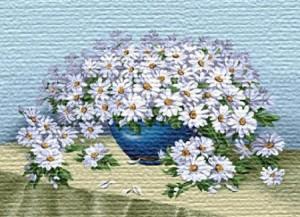 Роскошный белый букет - Гобелен