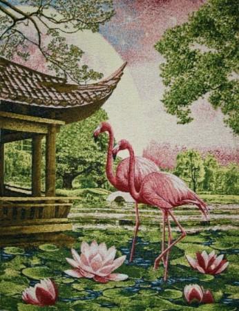 Розовые фломинго - Гобелен