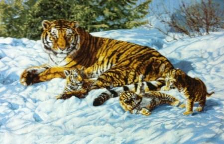 Тигр на снегу - Гобелен