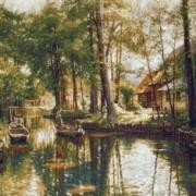 Пейзаж с рябиной - Гобелен