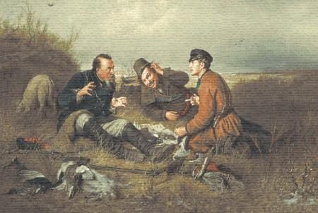 Три охотника - Гобелен