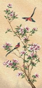 Цветущая сакура - Гобелен
