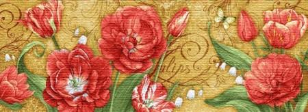 Тюльпаны ТРИПТИХ - Гобелен