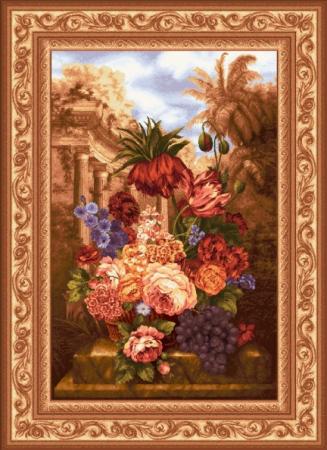 Виноград с цветами - Гобелен
