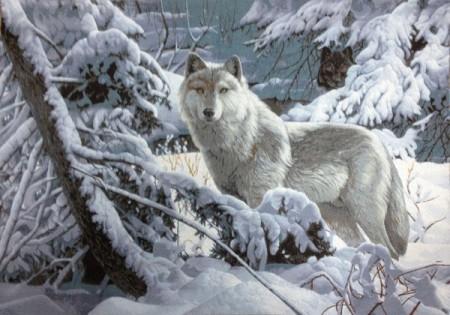 Волк  - Гобелен