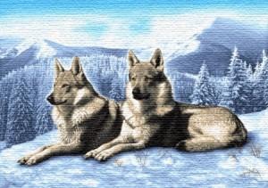 Волки на снегу - Гобелен
